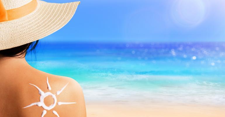 Soleil en été. Préservez votre peau.