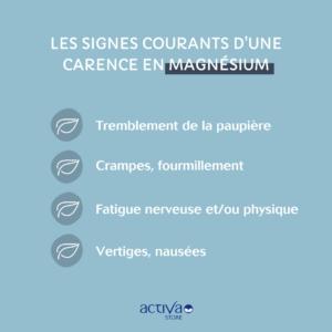 Signes manque de magnesium